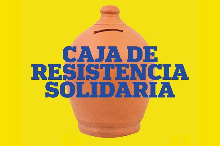 Cajar de resistencia para la huelga de alquiler.